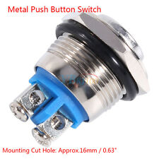 Car Waterproof Momentary Metal Push Button ON OFF Switch Engine Starter 1NO AP