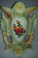 Vintage LUSTERWARE VASE URN handles, kiln pottery Made in Brazil, marked 1749 EC