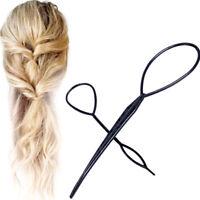 Accessori capelli Topsy Tail strumento acconciatura coda cavallo intreccio donna