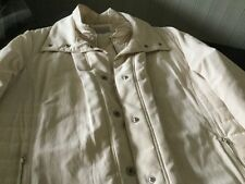 Per Una Ladies Cream Quilted Coat Size XL Excellent Condition