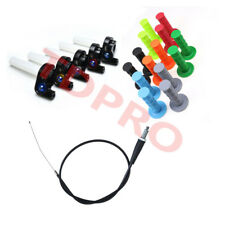"""7/8"""" Twist Throttle W/ Cable + Hand Grips for Dirt Pit Bikes Thumpstar KLX Pitpr"""