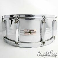 "*Yamaha SD-565MA 14x6.5""Snare Drum Steel 8-Lug Chrome Vintage 80s Made In Japan*"