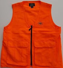 Red Head Hunting Vest Two Large Snap Pockets Zipper Florescent Orange Size Small