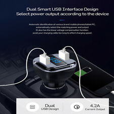 New 4.2A Dual USB Port Car Charger Fast Charging With LED Screen GPS Tracker 1Pc
