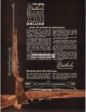 1969 Weatherby Mark XXII Deluxe .22 Cal Rifle Vtg Print Ad