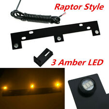 Bright Amber LED Grille Lights Kit w/ Mounting Bracket Fit For 2009-up Ford F150