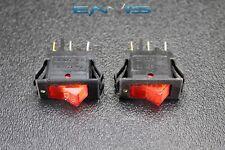 2 PCS ROCKER SWITCH ON OFF MINI TOGGLE RED LED 3P SPST 125V 15 AMP EC-315