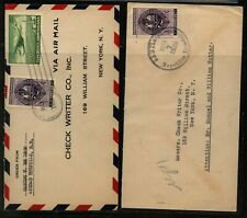 Dominican  Republic  2 airmail covers to New York     MS0604
