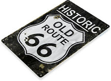 TIN SIGN Route 66 Historic Metal Décor Wall Art Store Road A598