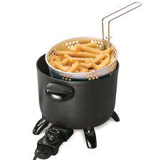 Electric Deep Fryer Multi Kettle Cooker Steamer 6Qt Tabletop Non-stick Coating