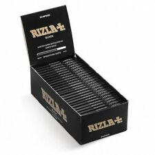 Rizla Black Cut Corners Cigarette Rolling Papers Box of 50 Booklets