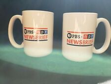 "Pair of Pbs/Npr News Brief 5"" Mugs"