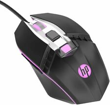HP RGB Ergonomic Wired Gaming Mouse, Adjustable DPI with Breathing Light