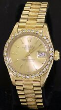 Rolex Datejust Presidential 69278 18K gold .64CT SI1/G diamond ladies watch