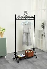 Chic and Sturdy Garment Rack - Clothing Racks with Bottom Shelf for Shoes  Me...