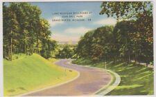 USA postcard - Lake Michigan Boulevard at John Ball Park, Grand Rapids, Mich
