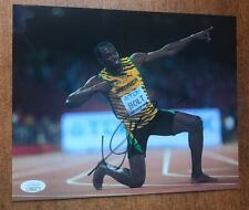 Usain Bolt Signed 8x10 Photo JSA COA Olympic Gold Medalist Runner Jamaica RARE !