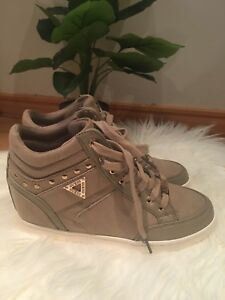 Guess Ladies Hidden Wedges Sneakers Shoes UK 6.5 BRAND NEW