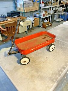 Vintage Western Flyer TOT Metal Red Wagon Antique