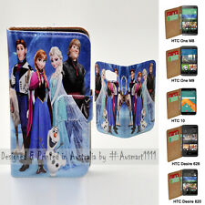 For HTC One X9 10 M9 M8 Desire 820 626 - Disney Frozen Print Wallet Phone Case