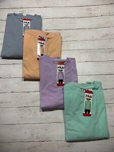 Fila Women's French Terry Long Sleeve Crew Neck Sweatshirt w/ Pockets