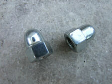 """Bmx Silver Acorn axle nuts for 3/8"""" Bicycle Axle, 28T, One Pair"""