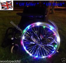 Wheelchair Wheel lights 1 pair Ideal for parties & Disco's Flashing Waterproof