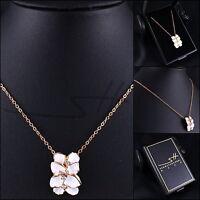 Halskette Kette Damen *Rose* Rosegold pl. Swarovski Elements, im Etui original