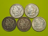 1921 Morgan Silver Dollar XF+ Extra Fine and Better Details Lot of 5 Coins