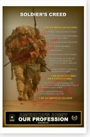 US Army Soldiers Creed Americas Army Our Profession CAPE Poster