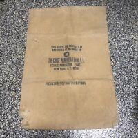 Vintage The Chase Manhattan Bank New York City Advertising Canvas Money Bag
