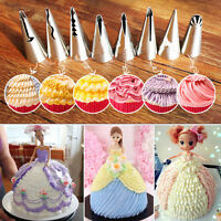 7pcs Piping Nozzles Flower Icing Stainless Steel Tips Pastry Cake Baking Tool