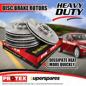 Protex Front + Rear Premium Quality Disc Brake Rotors for Jaguar S Type