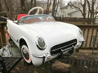 SUPER SCARCE 50TH ANNIV 1953 CORVETTE PEDAL CAR, 1 OF 500, NEVER SOLD TO PUBLIC!