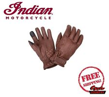 GENUINE INDIAN MOTORCYCLE MEN'S GETAWAY LEATHER RIDING GLOVES BROWN NEW