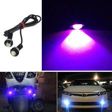 2Pcs Purple LED Lights Car Motorcycle Eagle Eye Signal Fog Daytime Running Lamp