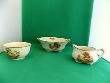 Alfred Meakin Country Life  Tureen, Sugar Bowl, Milk Jug
