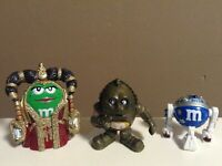 "DISNEY STAR WARS M & M FIGURES LOT C-CPO R2-D2 PRINCESS AMIDALA 1.5"" - 2.25"" HTF"