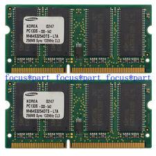 Samsung 512MB (2X256MB) PC133 144PIN NON-ECC SDRAM Memory RAM SO DIMM 3.3V