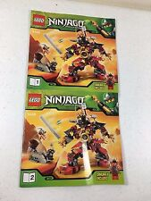 Lego Ninjago 9448 Instruction Manuals Only (2) Books