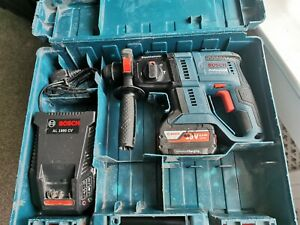 Bosch GBH 18V-20 Cordless Hammer Drill - Blue Kit with 1  4.0Ah Battery, Charger