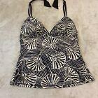 Profile By Gottex Womens Multicolor Halter Neck Swimwear Tankini Top Size 14