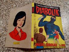 DIABOLIK ANNO VI (SESTO)ORIGINALE N.25 DEL 1967 MB/OTTIMO TIPO KRIMINAL SATANIK
