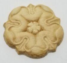 Oak Veneered Pressed Decorative Ornament carved Rosette rose trim wood antique