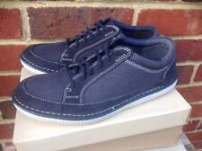 Men's Clarks Canvas Lace Up Sports Shoes Sulley Ollie UK 7 G