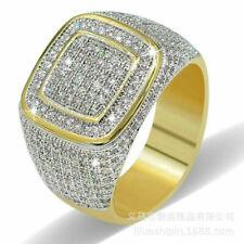 MEN'S18K GOLD WHITE SPAPPHIRE PROMISE RING SIZE 10