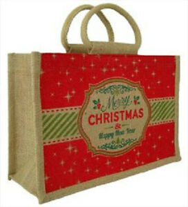 Christmas JUTE BAG - NATURAL