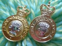 Staybright Army Ordnance Corps COLLAR Badge QC Anodised Gold+White Color PAIR