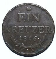 1816 A Austria One 1 Kreuzer - Franz II - Lot 946