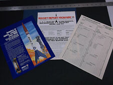 VINTAGE MRC MODEL RECTIFIER CORP ROCKET LITERATURE  MODEL ROCKETRY  *G-COND*